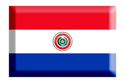 パラグアイ共和国の国旗-板チョコ