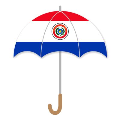 パラグアイ共和国の国旗-傘