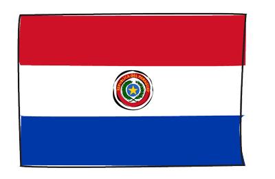 パラグアイ共和国の国旗-グラフィティ