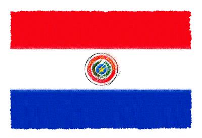 パラグアイ共和国の国旗-パステル