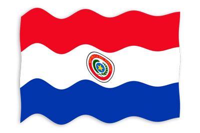 パラグアイ共和国の国旗-波
