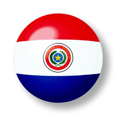 パラグアイ共和国の国旗-ビー玉