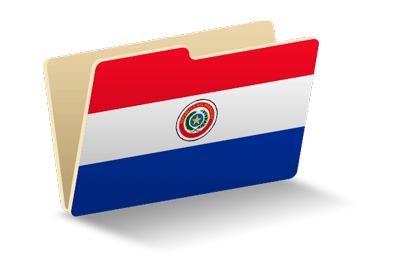 パラグアイ共和国の国旗-フォルダ