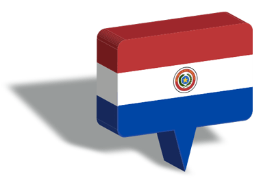 パラグアイ共和国の国旗-マップピン