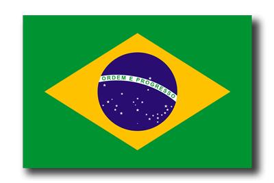 ブラジル連邦共和国の国旗-ドロップシャドウ