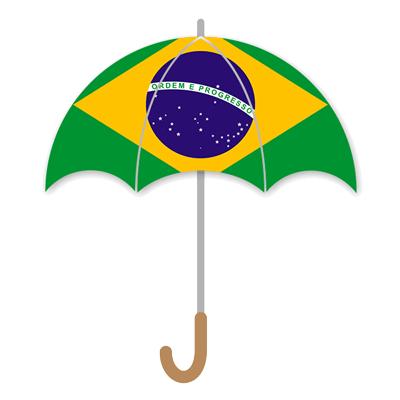 ブラジル連邦共和国の国旗-傘
