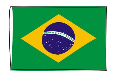 ブラジル連邦共和国の国旗-グラフィティ
