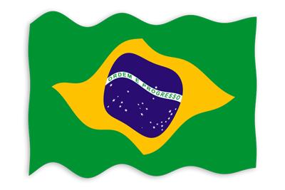 ブラジル連邦共和国の国旗-波