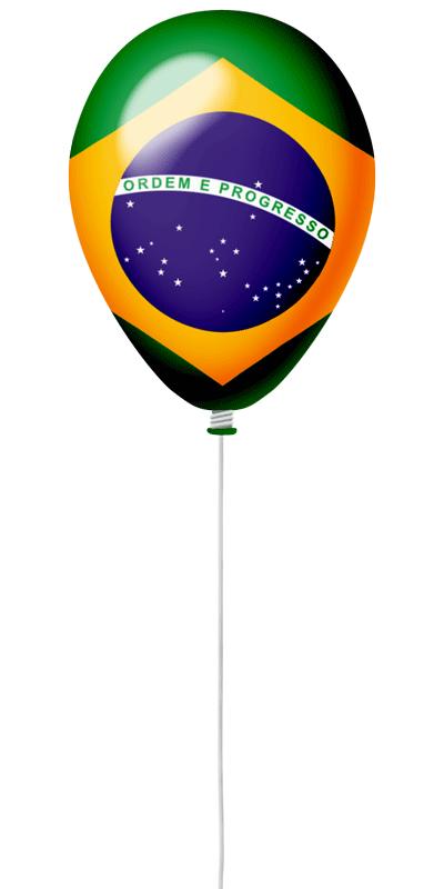 ブラジル連邦共和国の国旗-風せん