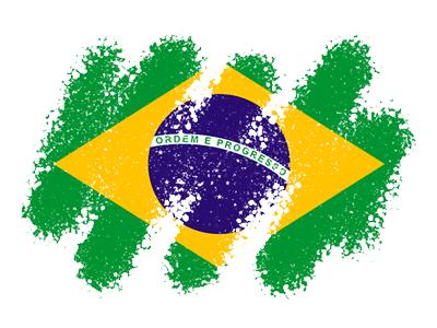 ブラジル連邦共和国の国旗-クレヨン1