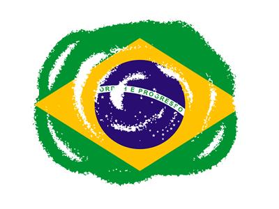 ブラジル連邦共和国の国旗-クラヨン2
