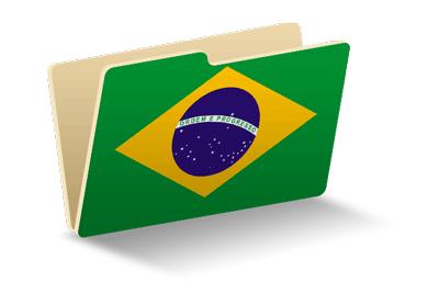 ブラジル連邦共和国の国旗-フォルダ