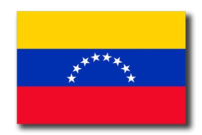 ベネズエラ・ボリバル共和国の国旗-ドロップシャドウ