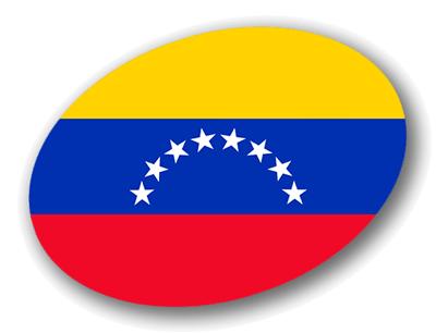 ベネズエラ・ボリバル共和国の国旗-楕円