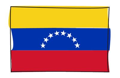 ベネズエラ・ボリバル共和国の国旗-グラフィティ