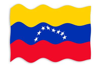 ベネズエラ・ボリバル共和国の国旗-波