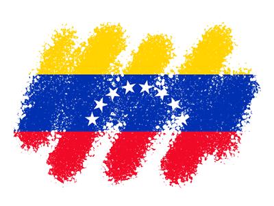 ベネズエラ・ボリバル共和国の国旗-クレヨン1