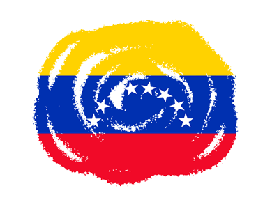 ベネズエラ・ボリバル共和国の国旗-クラヨン2