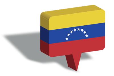 ベネズエラ・ボリバル共和国の国旗-マップピン