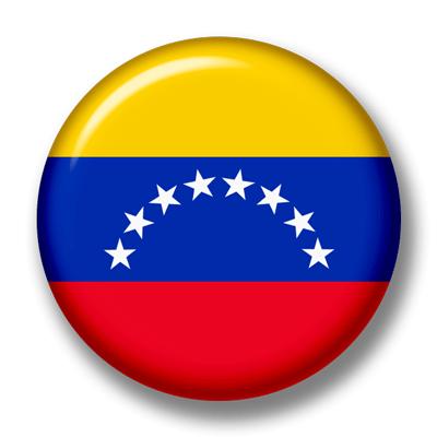 ベネズエラ・ボリバル共和国の国旗-缶バッジ