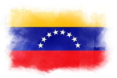ベネズエラ・ボリバル共和国の国旗-水彩風