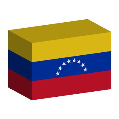 ベネズエラ・ボリバル共和国の国旗-積み木