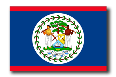 ベリーズの国旗-ドロップシャドウ