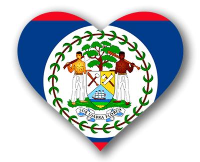 ベリーズの国旗-ハート