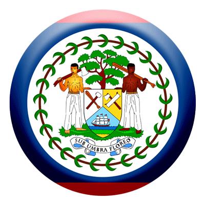 ベリーズの国旗-コイン