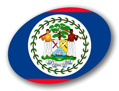 ベリーズの国旗-楕円