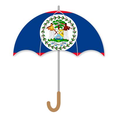 ベリーズの国旗-傘