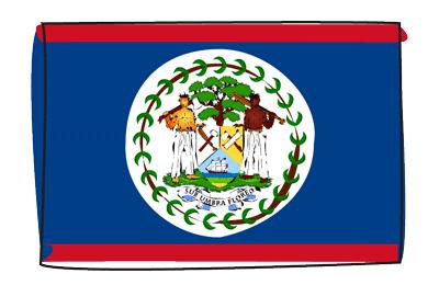 ベリーズの国旗-グラフィティ