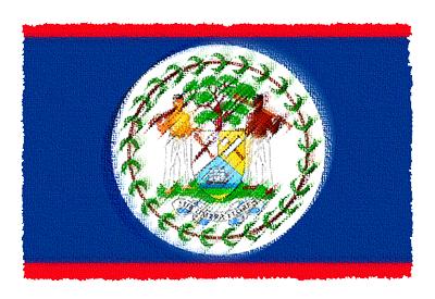 ベリーズの国旗-パステル