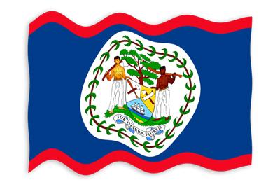 ベリーズの国旗-波