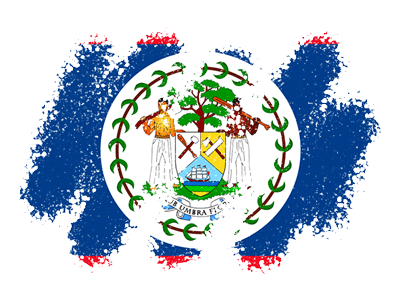 ベリーズの国旗-クレヨン1
