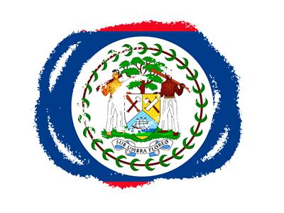 ベリーズの国旗-クラヨン2