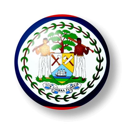 ベリーズの国旗-ビー玉