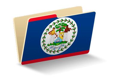 ベリーズの国旗-フォルダ