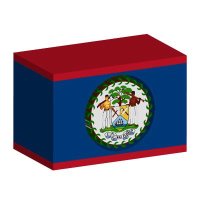 ベリーズの国旗-積み木