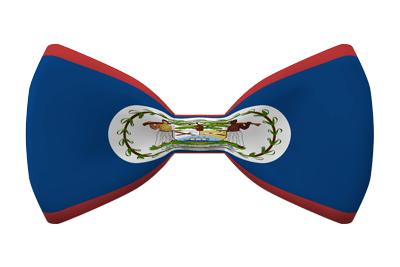 ベリーズの国旗-蝶タイ