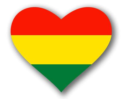 ボリビア多民族国の国旗-ハート