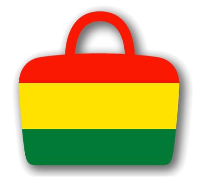 ボリビア多民族国の国旗-バッグ