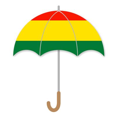 ボリビア多民族国の国旗-傘