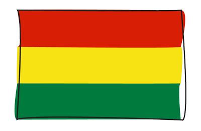 ボリビア多民族国の国旗-グラフィティ