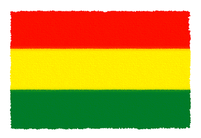 ボリビア多民族国の国旗-パステル
