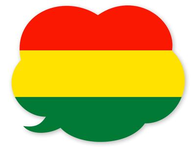 ボリビア多民族国の国旗-吹き出し