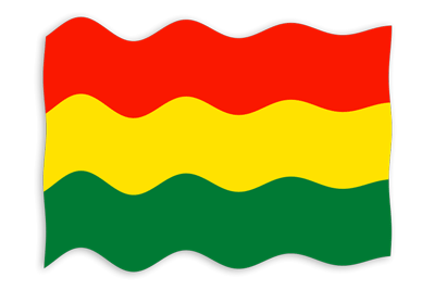 ボリビア多民族国の国旗-波