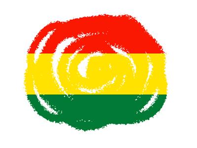 ボリビア多民族国の国旗-クラヨン2