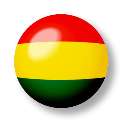 ボリビア多民族国の国旗-ビー玉