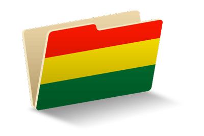 ボリビア多民族国の国旗-フォルダ